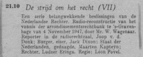 Datum uitzending: zondag 16-01-1949.