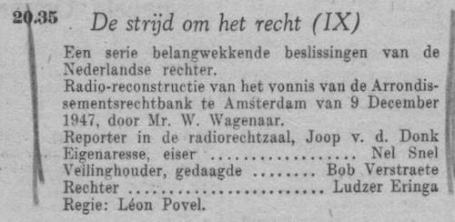 Datum uitzending: zondag 06-02-1949.