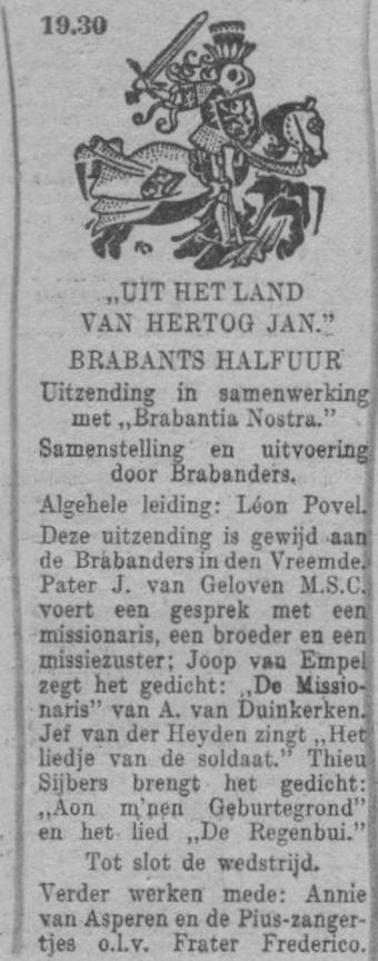 Datum uitzending: vrijdag 18-03-1949.