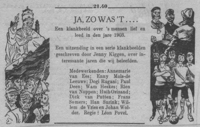 Datum uitzending: vrijdag 20-01-1950.