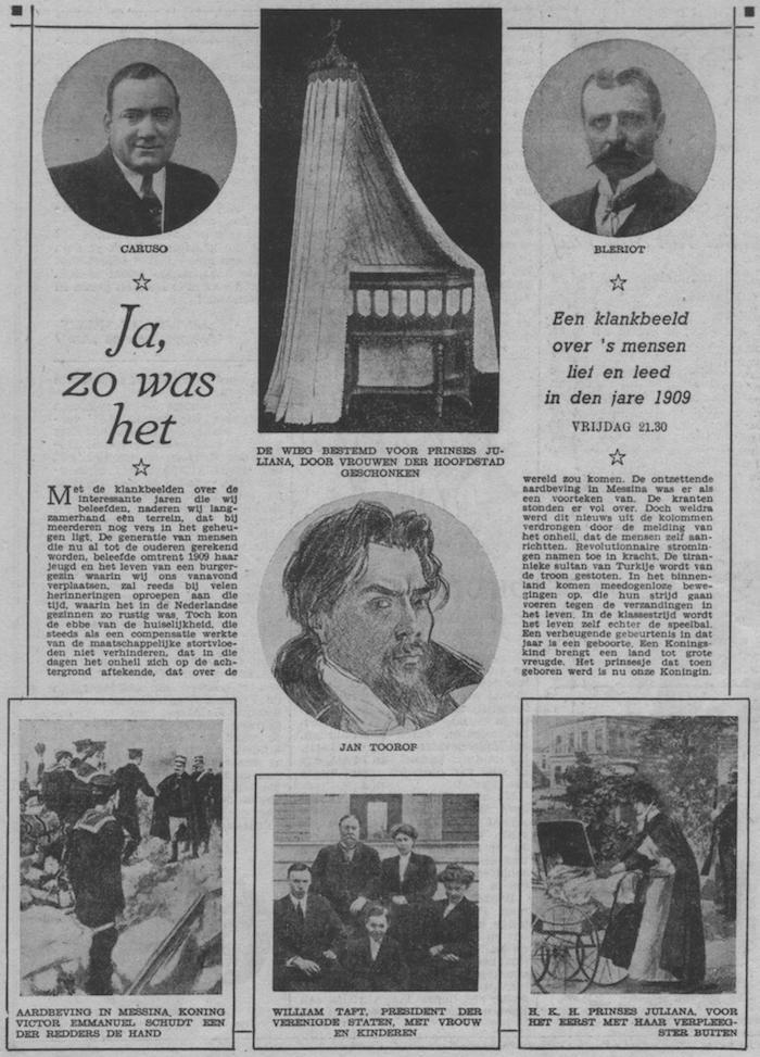 Info bij uitzending van 03-03-1950.