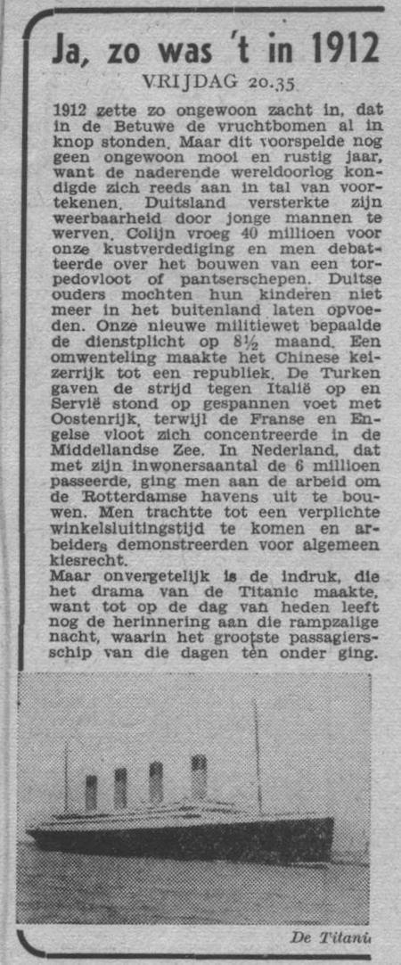 Info bij uitzending van 14-04-1950.
