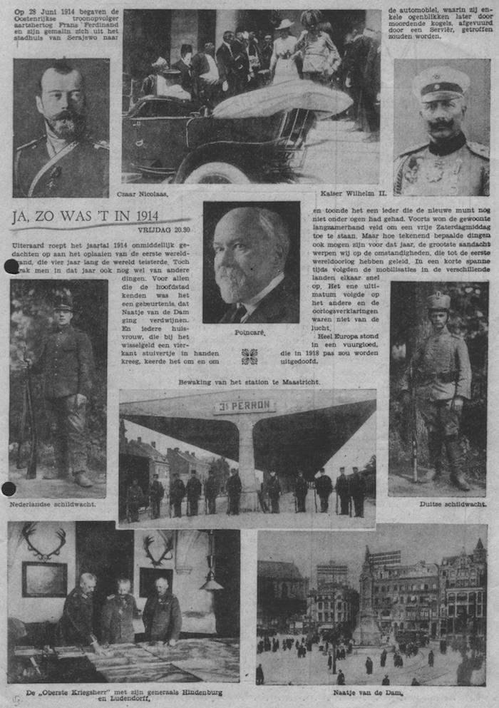 Info bij programma over het jaar 1914, datum uitzending: onbekend.