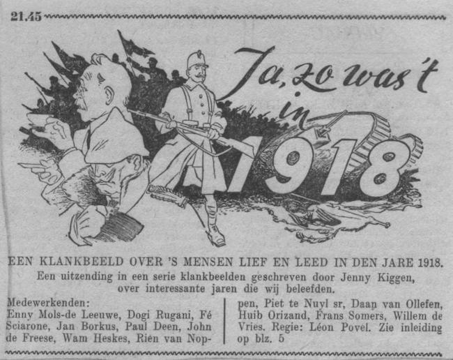 Datum uitzending: vrijdag 29-09-1950.