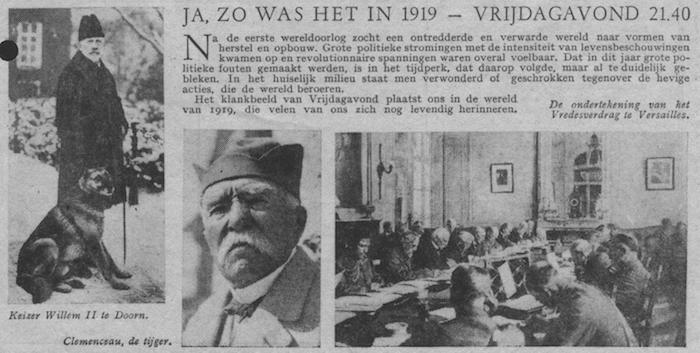 Info bij uitzending van 27-10-1950.