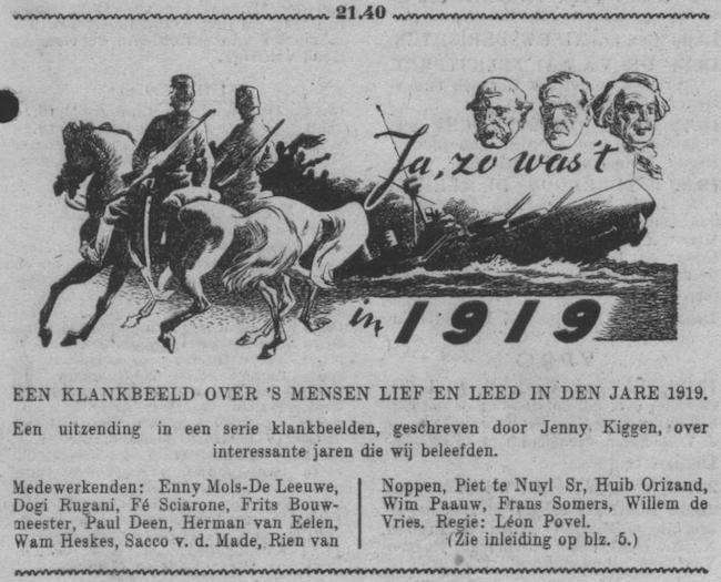 Datum uitzending: vrijdag 27-10-1950.