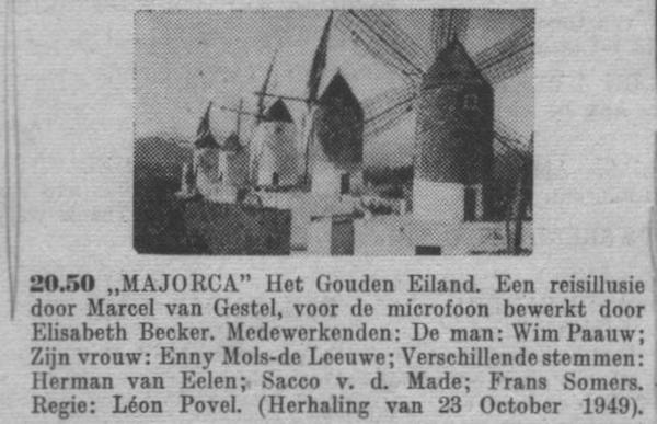 Datum uitzending: zondag 12-03-1950.