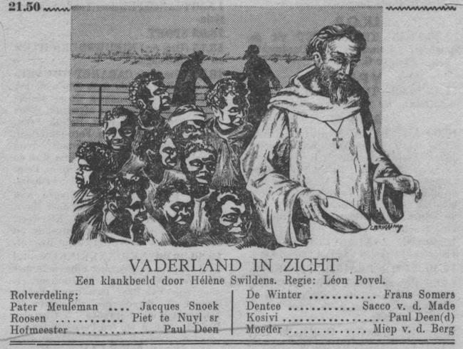 Datum uitzending: zondag 22-10-1950.
