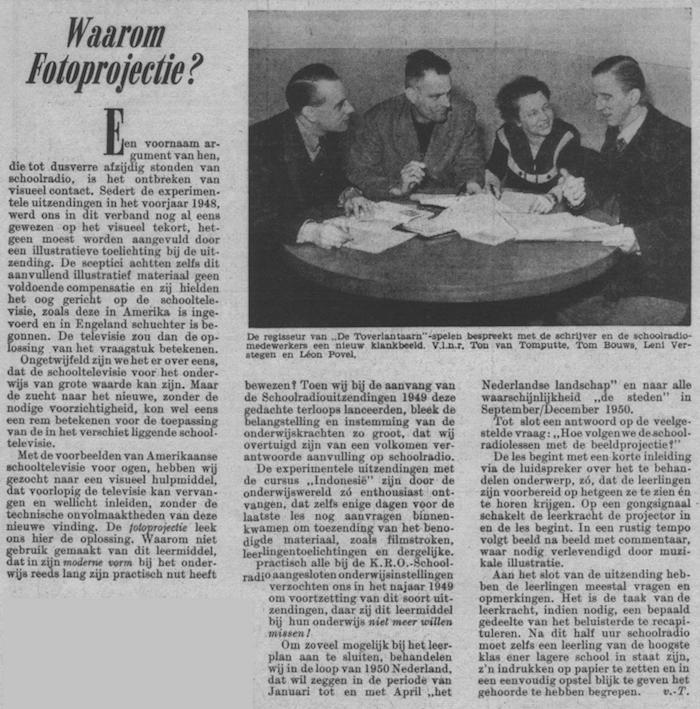 Info uit de gids van week 2 1950.
