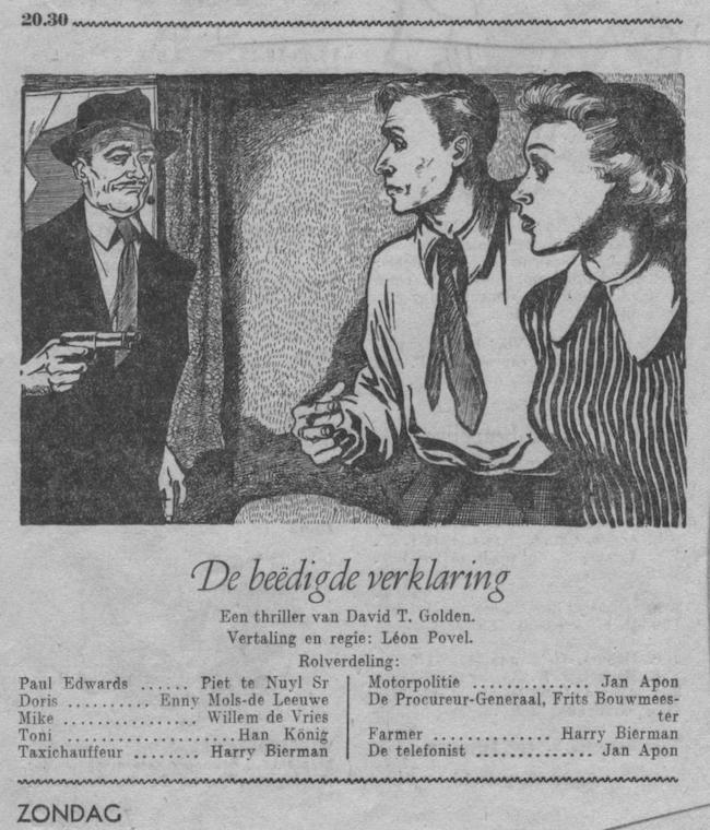Datum uitzending: zondag 01-04-1951.