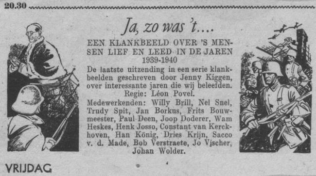Datum uitzending: vrijdag 06-07-1951.
