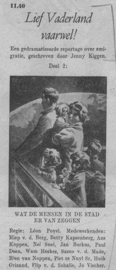 Tweede deel, datum uitzending: zondag 20-05-1951.