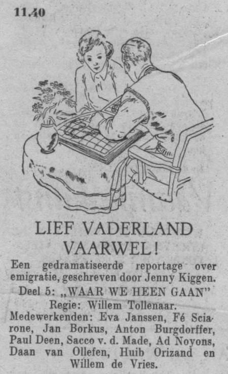 Vijfde deel, datum uitzending: zondag 01-07-1951.