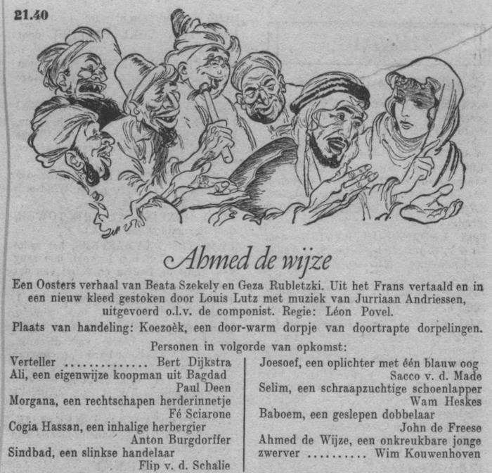 Datum uitzending: zondag 10-02-1952.