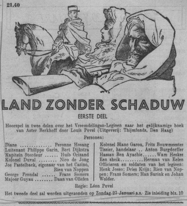 Datum uitzending: deel 01 zondag 20-01-1952.