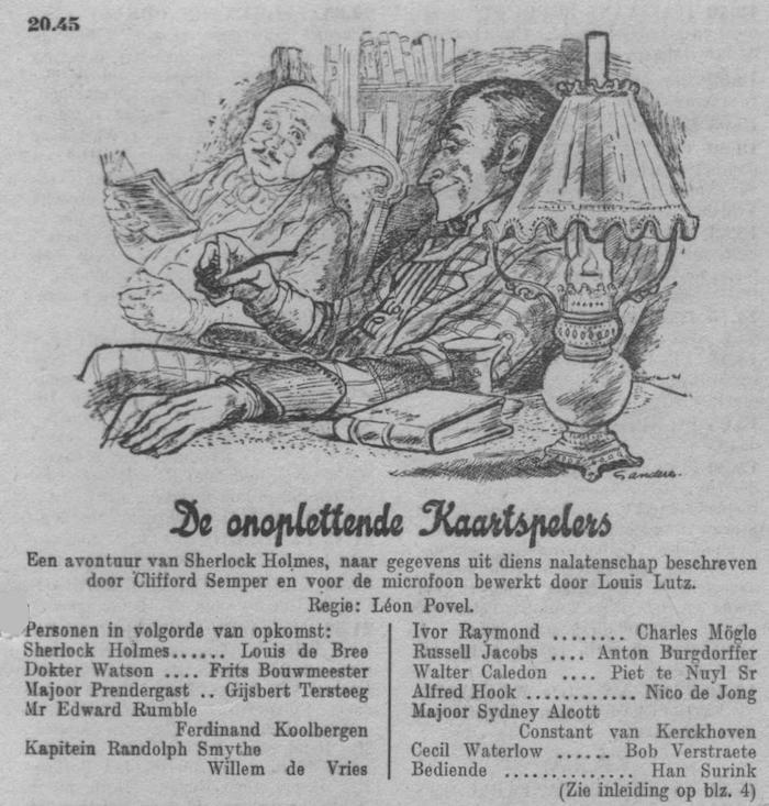 Datum uitzending: zondag 20-07-1952.