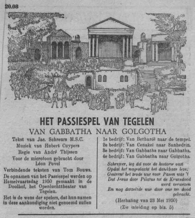 Datum uitzending: vrijdag 11-04-1952.