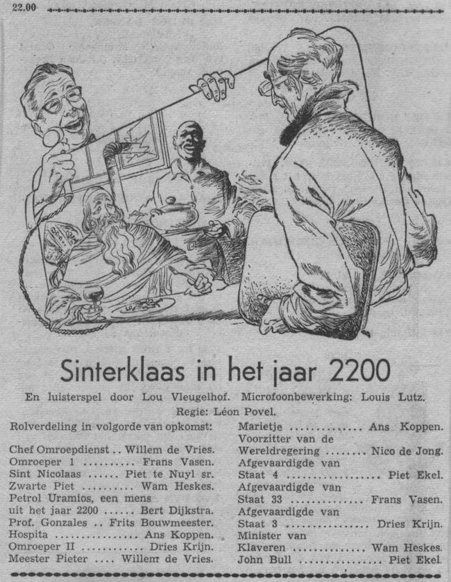 Datum uitzending: zondag 30-11-1952.