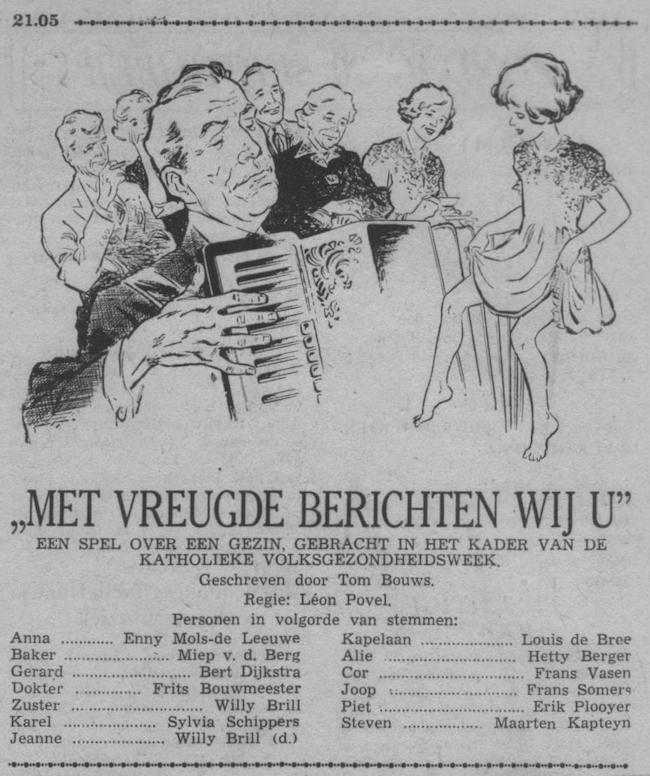 Datum uitzending: zondag 20-09-1953.