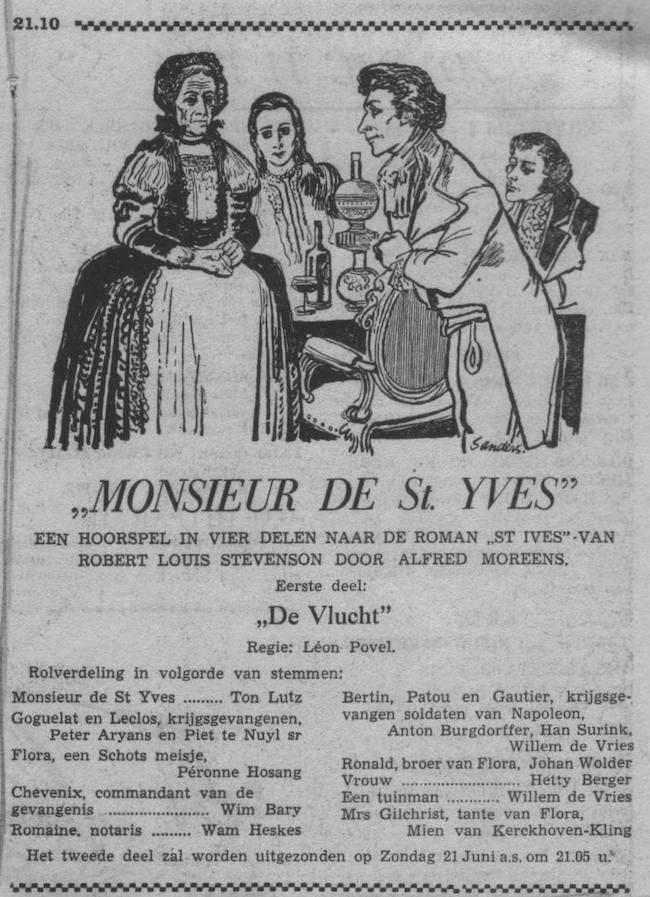Datum uitzending: deel 1 Zondag 14-06-1953.