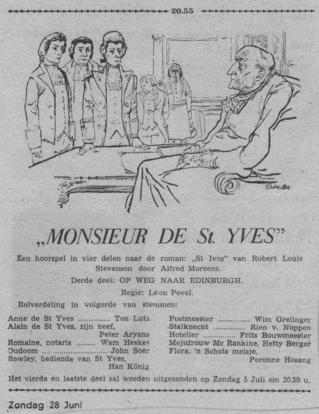 Datum uitzending: deel 3 Zondag 28-06-1953.