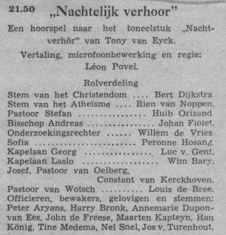 Datum uitzending: zondag 19-04-1953.
