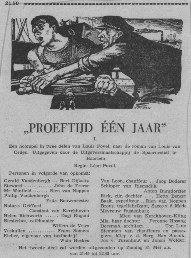 Datum uitzending: deel 01 zondag 24-05-1953.