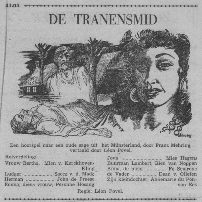 Datum uitzending: zondag 08-11-1953.