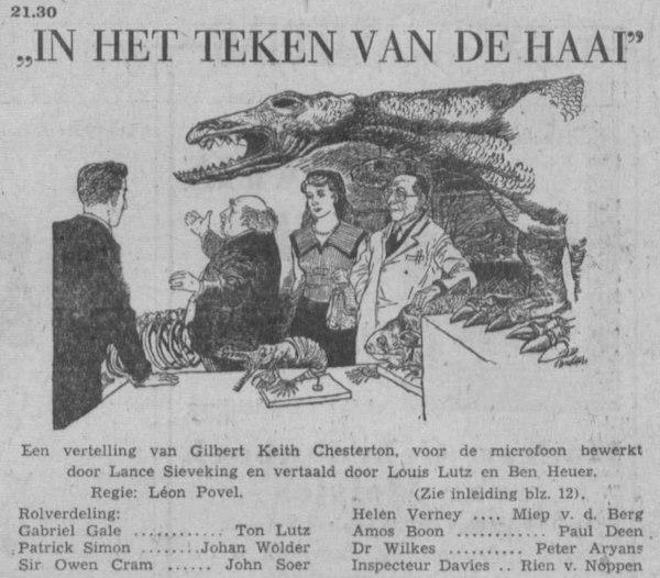 Datum uitzending: zondag 19-12-1954.
