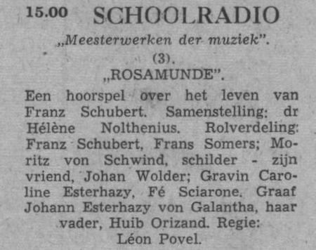Datum uitzending: dinsdag 23-11-1954.
