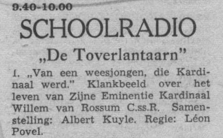 Datum uitzending: donderdag 16-09-1954.