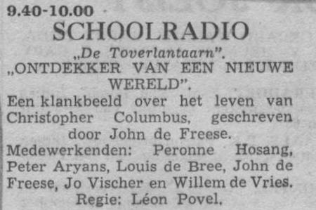 Datum uitzending: donderdag 14-10-1954.