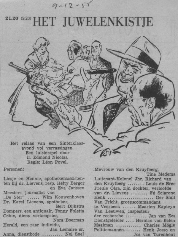Datum uitzending: zondag 04-12-1955.