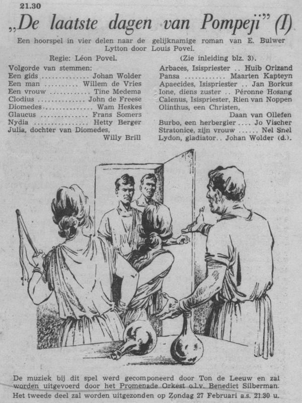 Datum uitzending: deel 1 zondag 20-02-1955.