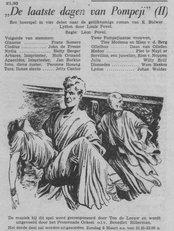 Datum uitzending: deel 2 zondag 27-02-1955.