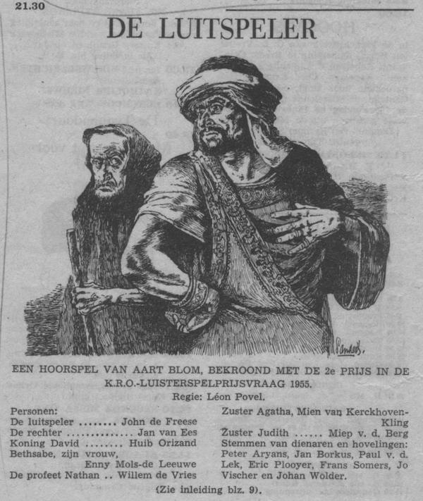 Datum uitzending: zondag 18-09-1955.