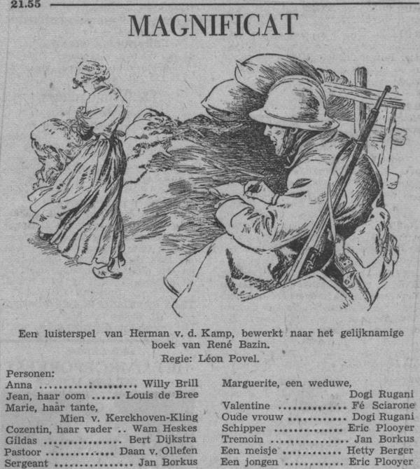 Datum uitzending: zondag 01-05-1955.