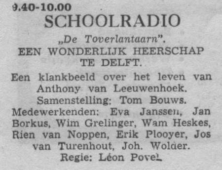 Datum uitzending: donderdag 17-03-1955.