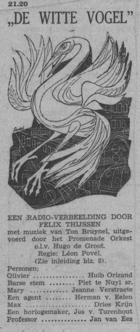 Datum uitzending: dinsdag 17-05-1955.