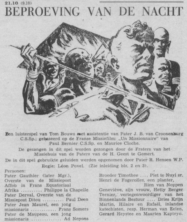 Datum uitzending: vrijdag 19-10-1956.