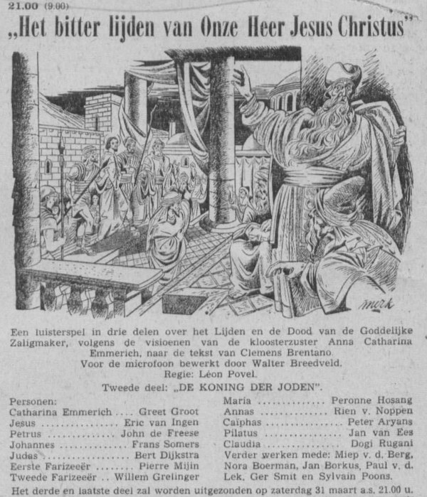 Datum uitzending: Deel 2 zaterdag 24-03-1956.