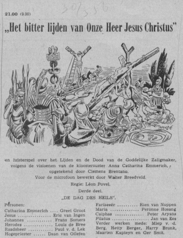 Datum uitzending: Deel 3 zaterdag 31-03-1956.