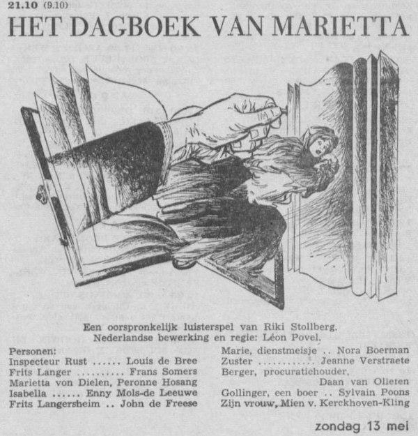 Datum uitzending: zondag 13-06-1956.