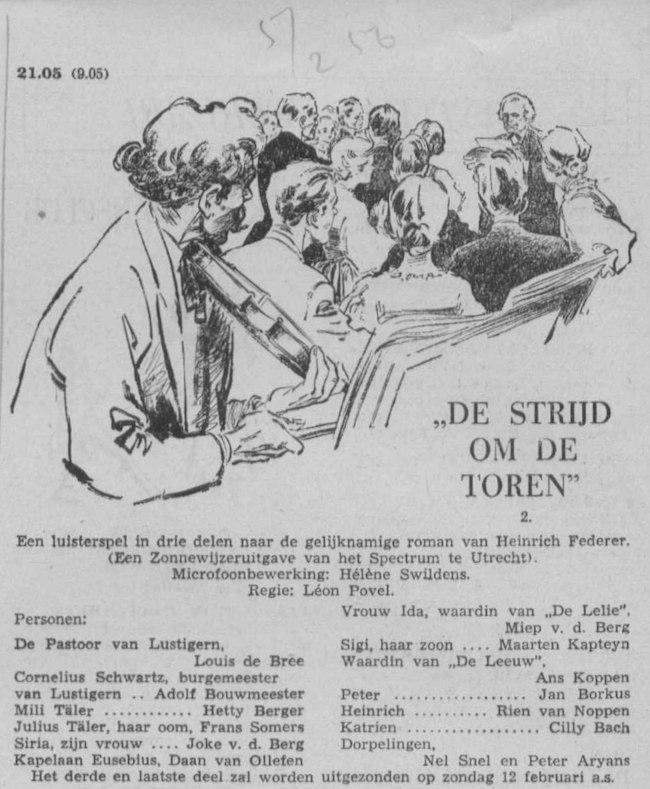 Datum uitzending: deel 2 zondag 05-02-1956.