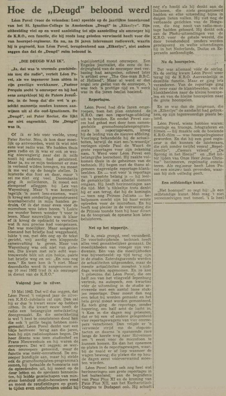Een artikel van 18-05-1956. 2 van 3.