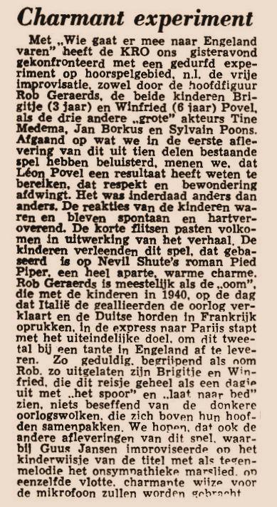 Uit de krant van 06-04-1959.