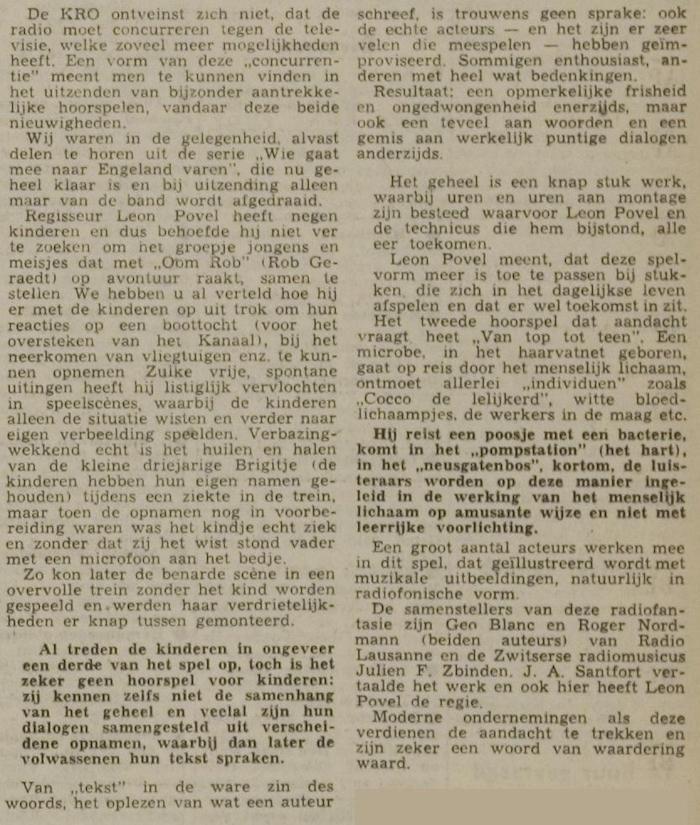 Uit de krant van 28-03-1959.