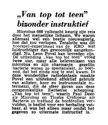 Uit de krant van 01-04-1959.