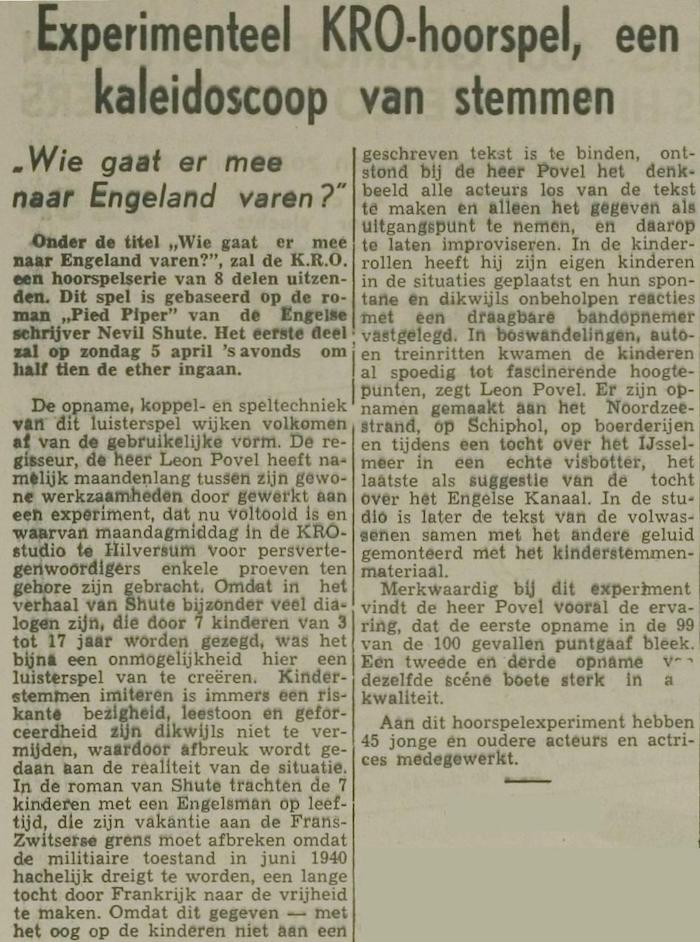 Uit de krant van 25-03-1959.