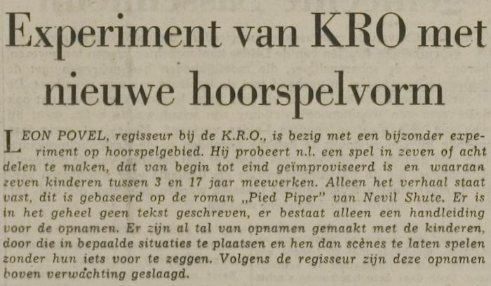 Uit de radiogids van 27-01-1959.